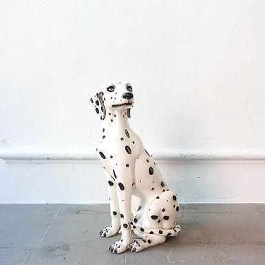 Portuguese Ceramic Dog Sculpture, 1950s