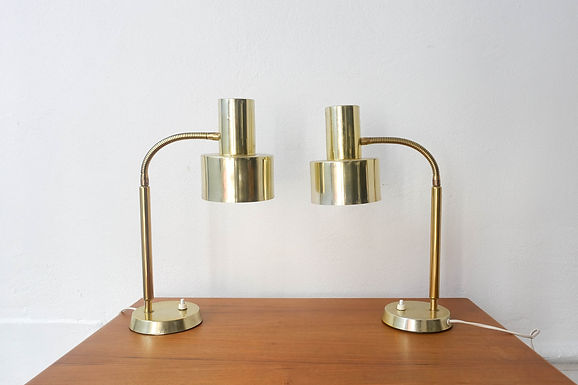 Brass Table Lamps from Boréns, 1960s, Set of 2