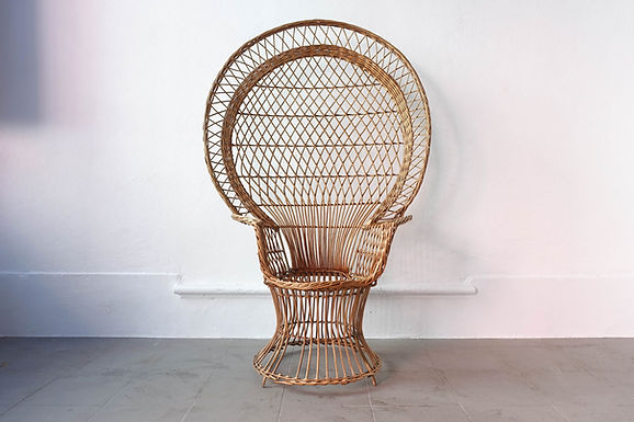 """Iconic """"Emanuelle"""" Peacock Chair"""