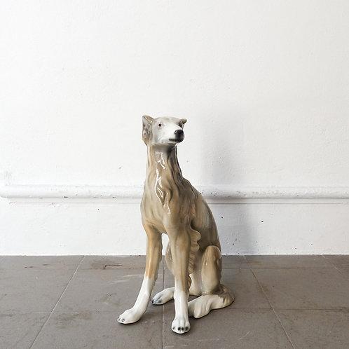 Portuguese Ceramic Dog Sculpture, 1970s