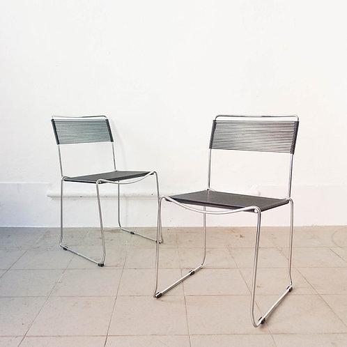 Pair of Spaghetti Chairs by Giandomenico Belotti for Alias, 1980's