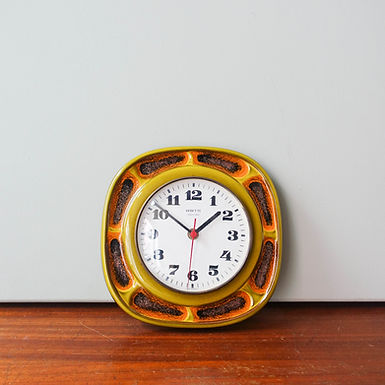 Mid-Century French Wall Clock from Vedette, 1970s