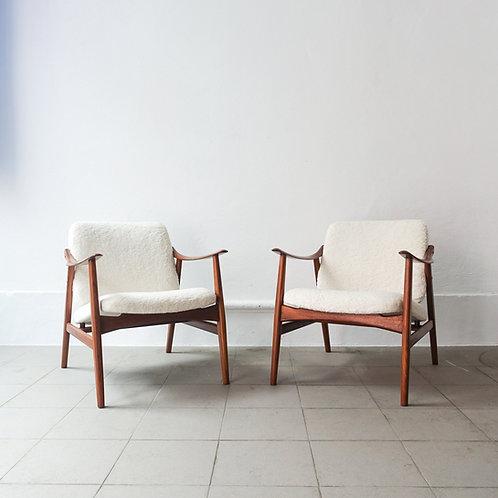Pair of Armchairs by José Cruz de Carvalho for Altamira, 1960's