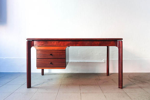 Vintage Desk in Mahogany Wood, 1970's