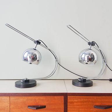 Pair of Eyeball Reggiani Table Lamps, 1970's
