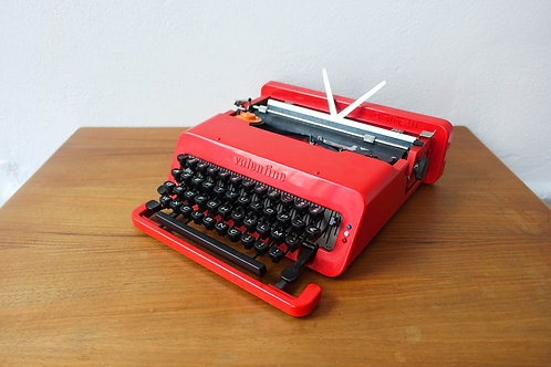 Red Valentine Typewriter by Ettore Sottsass & Perry King for Olivetti Synthesis,