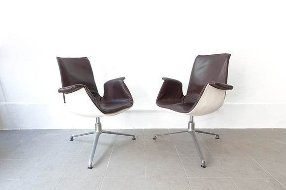 Mid-Century Pair of Armchairs by Preben Fabricius & Jørgen Kastholm for Kill Int