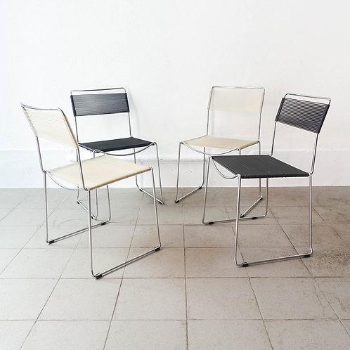 Set of four Spaghetti Chair by Giandomenico Belotti for Alias