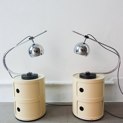 Pair of Eyeball Reggiani Table Lamps, 1970's