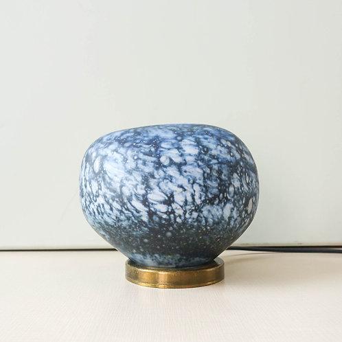 Mid Century Blue Murano Stone Table Lamp, 1960's