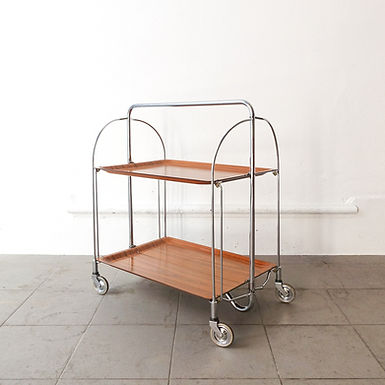 Mid-Century Foldable Serving Trolley from Bremshey Solingen, 1960s
