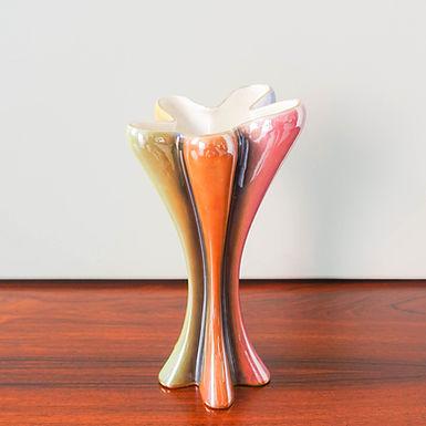 Rainbow Flower Vase, model 1169,  by Raul da Bernarda, Alcobaça, Portugal,1950's