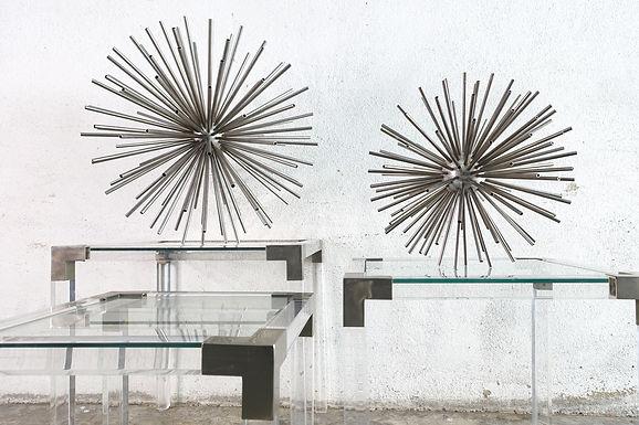 Pair of Sputnik Sculputes by Curtis Jeré, 1960's