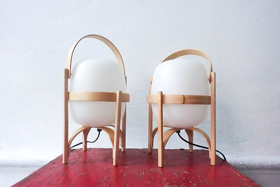 Pair of Cestita Table Lamp by Miguel Milá for Santa & Cole