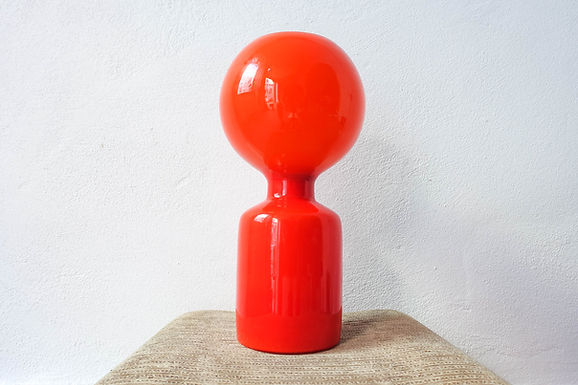 Orange Glass Table Lamp by Jean-Paul Emonds-Alt for Philips