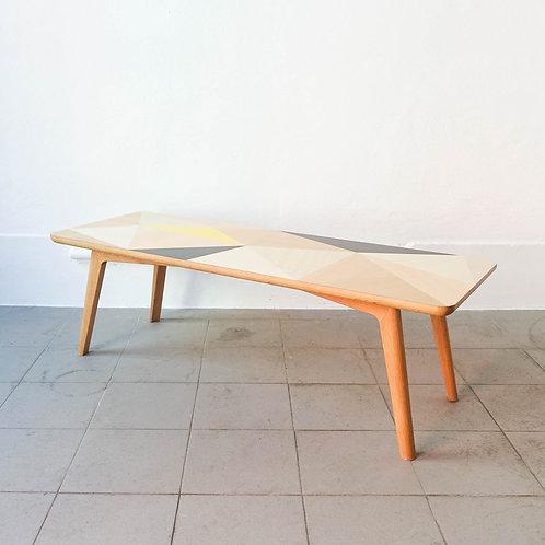 Coffee Table Oak Marquetry by Romain Jeantet 2017