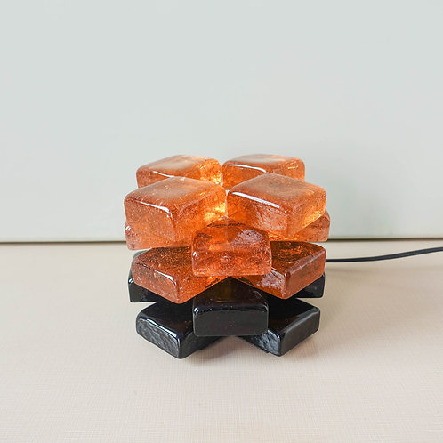 Orange Glass Table Lamp by Albano Poli for Poliarte, 1970's