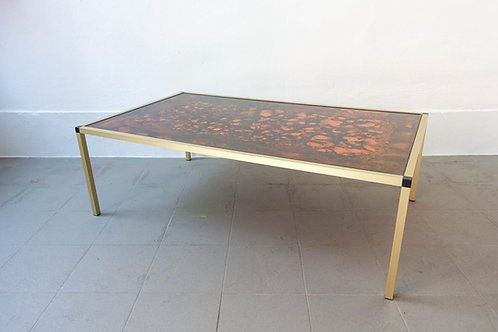 Danish Lava Pattern Coffee Table, 1970s