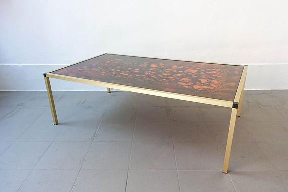 Danish Lava Pattern Coffee Table, 1970s