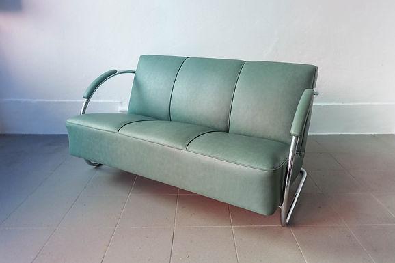 Art Deco Streamline Sofa by Fabrica Portugal
