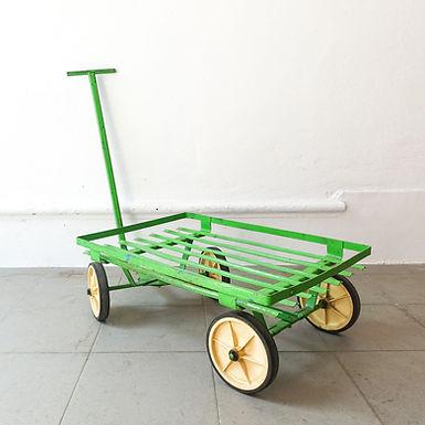 Industrial Vintage Green Trolley, 1970's