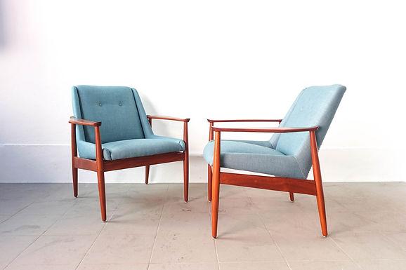 Pair of Armchairs by José Cruz de Carvalho for Altamira, 1950's