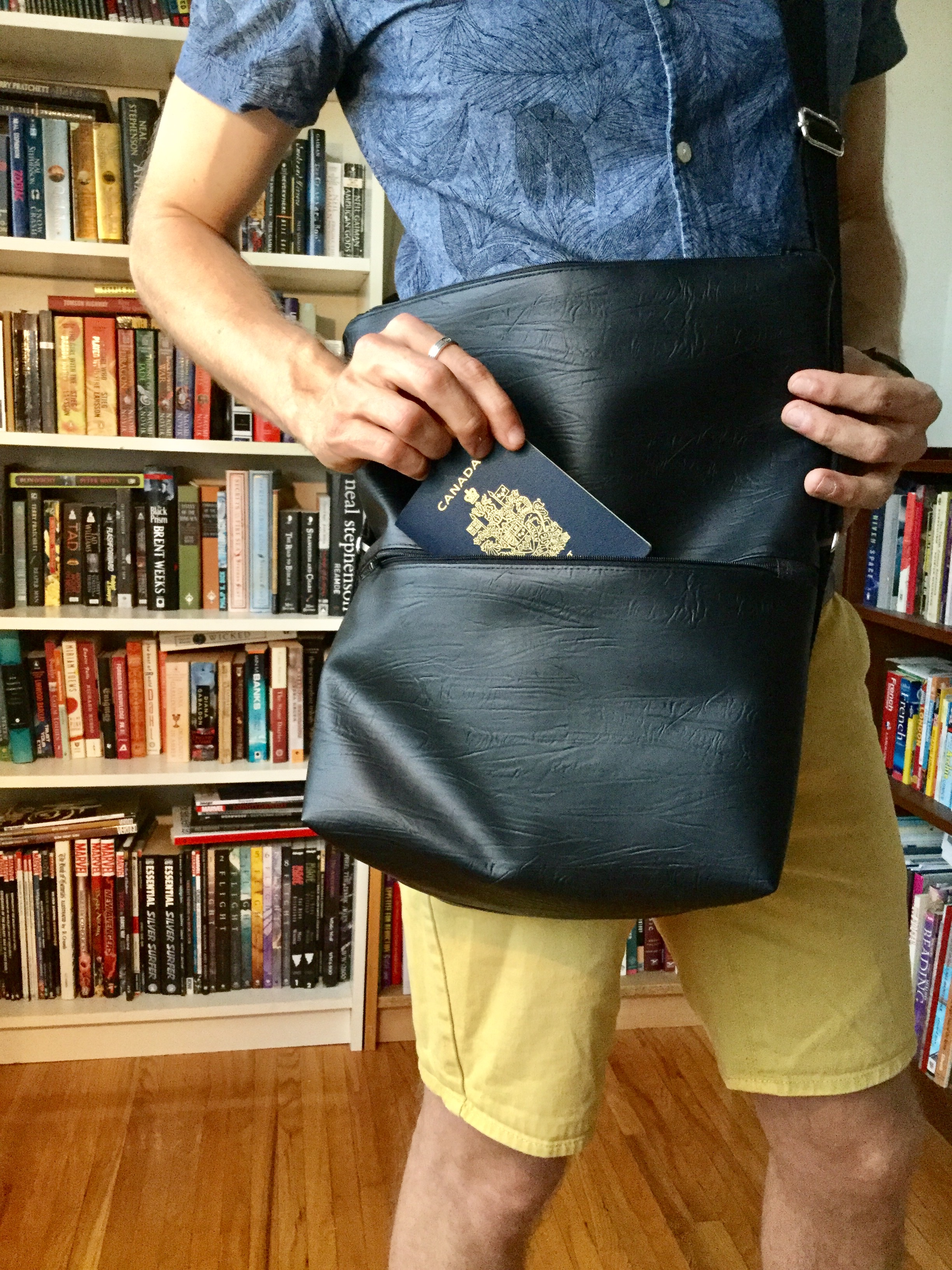 Black Crossbody Fold Over