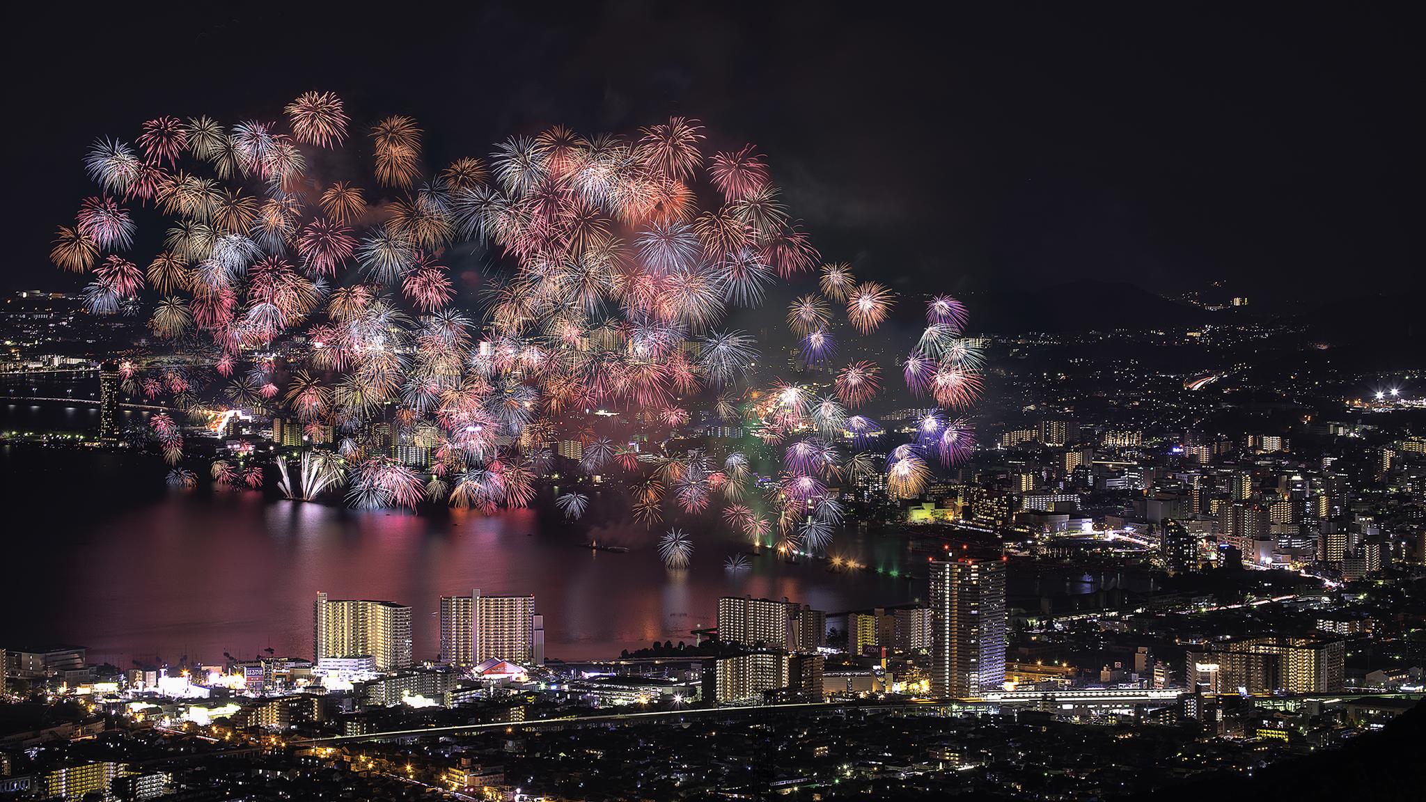 Biwa Lake Fireworks 2016