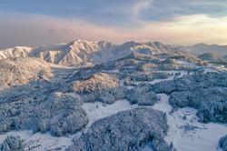 Snow village winter scenery