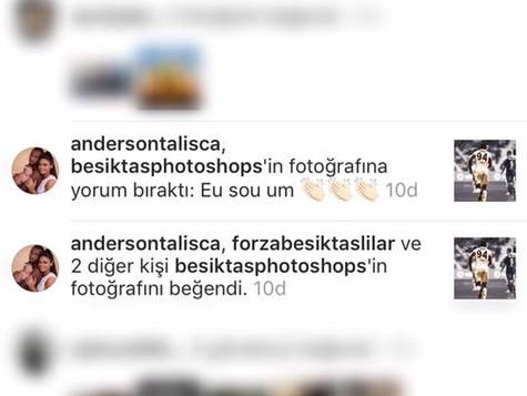 Talisca'nın instagramdan yaptığı yorum