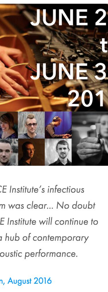 Splice Summer Institute 2018