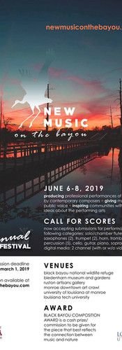 New Music on the Bayou Festival 2019