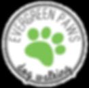 Evergreen Paws Dog Walking Logo