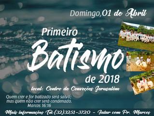Primeiro Batismo de 2018