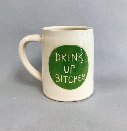 Drink Up beer mug
