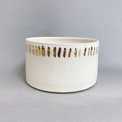 Gold-Lined Porcelain Planter
