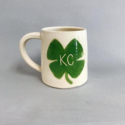 KC Clover beer mug