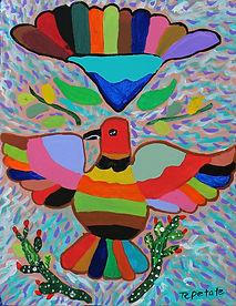 el pajaro colorado(2020) 11x14.jpg