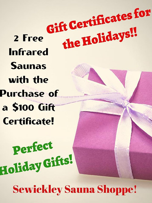 Gift Certificate-2 Free for You!