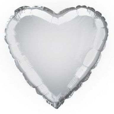 "Balloon Foil 18"" Heart Silver"