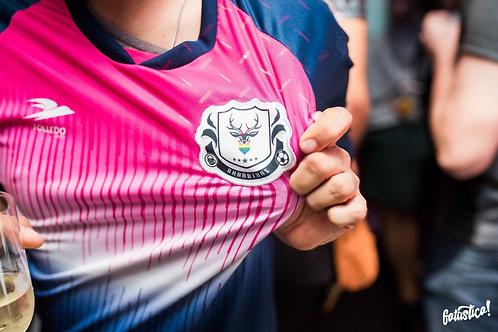 Camisa Futebol Azul e Rosa (Pronta Entrega)