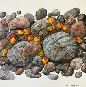 Rocks and Leaves #115