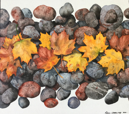 Rocks and Leaves #102