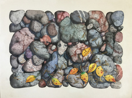 Rocks and Leaves #129