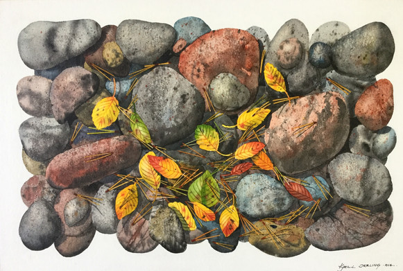 Rocks and Leaves #113