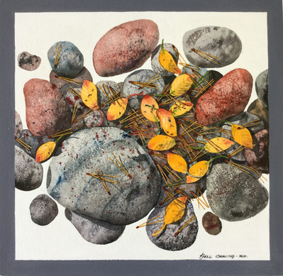 Rocks and Leaves #103