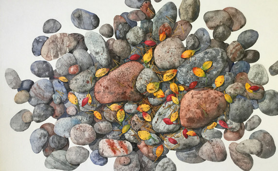Rocks and Leaves #106