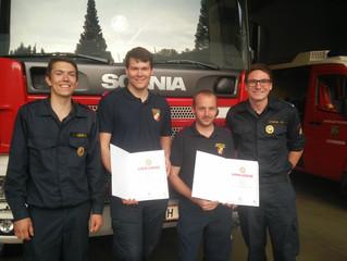 Feuerwehrmatura mit Erfolg bestanden