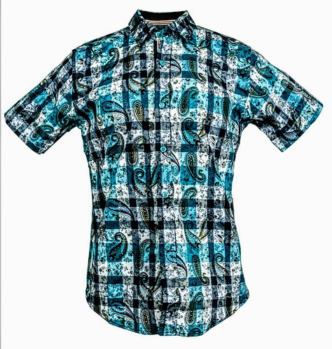 Buttons Down Shirts Style #2217 (Case of 8 Pcs)