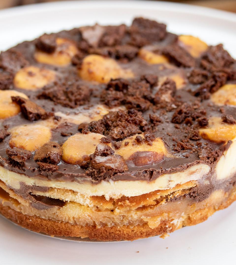 43 - Torta de banada com doce de leite e